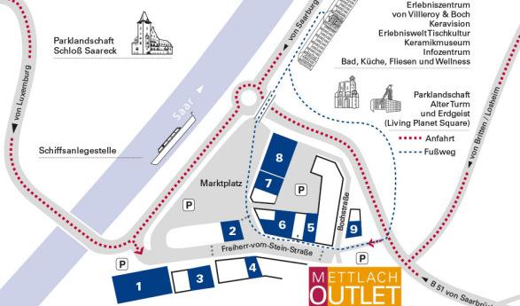 Mettlach Outlet Center – Das Schnäppchen Paradies im Saarland