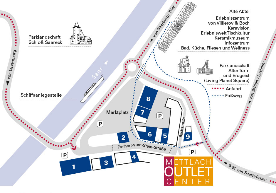 Mettlach outlet center das schn ppchen paradies im for Sessel outlet und fabrikverkauf